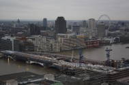 View of London on a cloudy day