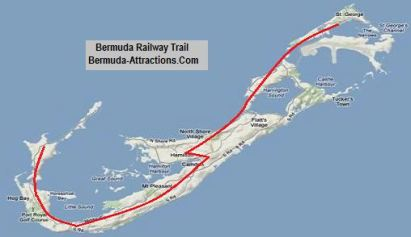Bermuda railway trail map