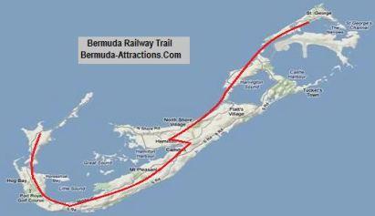 Bermuda railway trail map