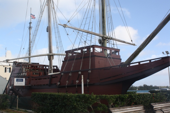 A replica of the original boat the British settlers build to to set sail for Jamestown, Virginia