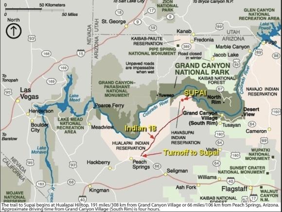 Havasupai Falls Map