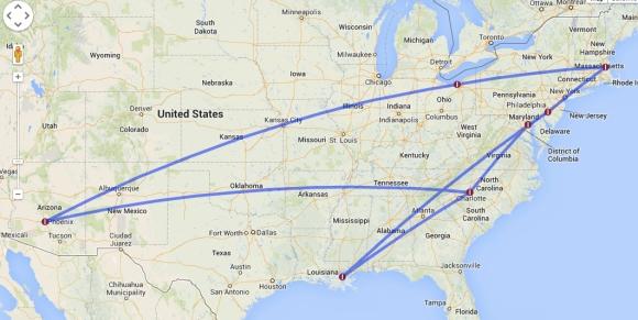 Travel Map 08-28-09-09