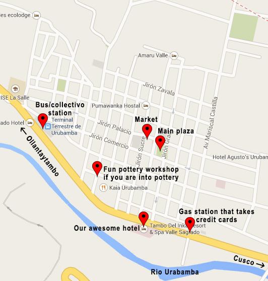 Urubamba map