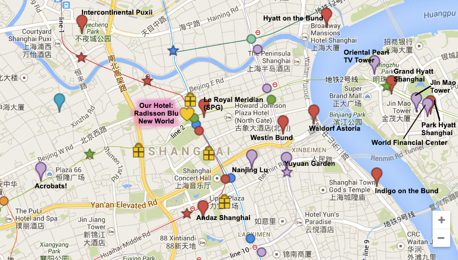 September 2014 – Shanghai Tourist Attractions Map