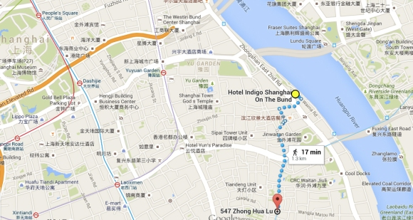 Indigo hotel map