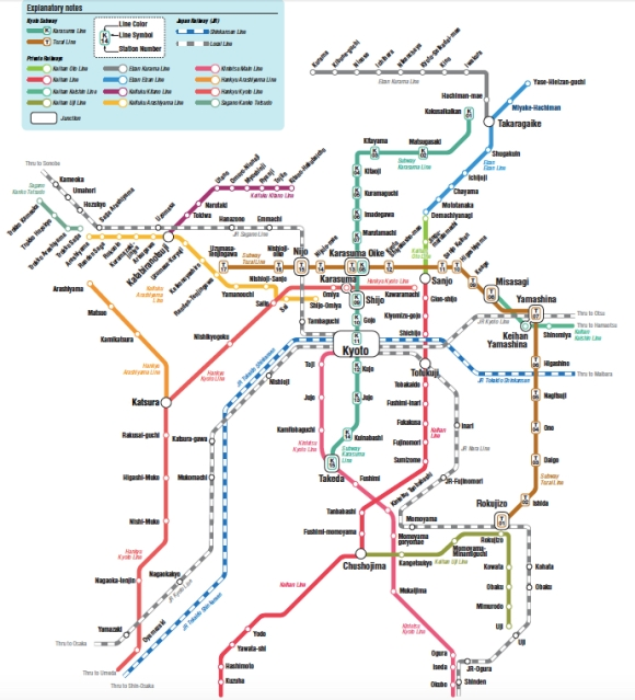 Kyoto Train map