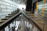 Inside Harpa, post-concert