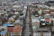 A view of Reykjavik from atop Hallgrímskirkja