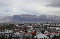 View of Reykjavik and the surrounding mountains