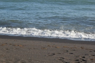 Black sand beaches!