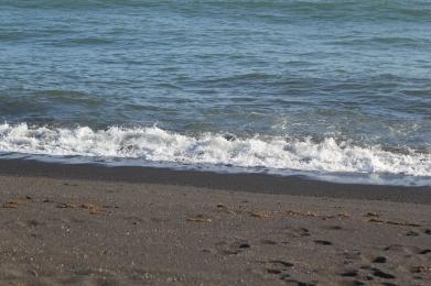 Black sand beaches!