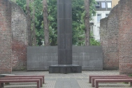 An outdoor memorial to Holland's Jewish community