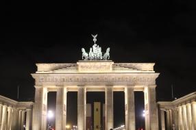 Brandenburg Gate was rebuilt after World War II. It stood as a dividing line between East and West Berlin