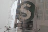 A reflection of the old subway sign at Potsdamer Platz