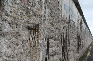 A piece of the Berlin Wall outside the Topography of Terror museum
