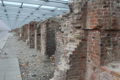 An external basement wall of Hitler's Gestapo - all that remains outside the Topography of Terror museum