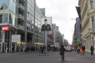 The former and famous Checkpoint Charlie - an entry-exit point between East and West Berlin