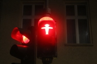 Berlin's famous ampelmann - traffic man